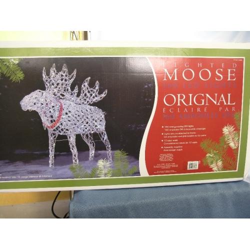 Christmas Lighted Moose 160 LED Lights  Allsoldca  Buy