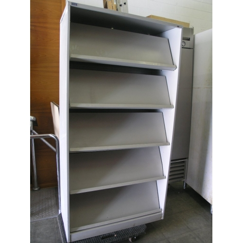 Grey Montel Brochure Pamphlet Display Storage Cabinet Rack