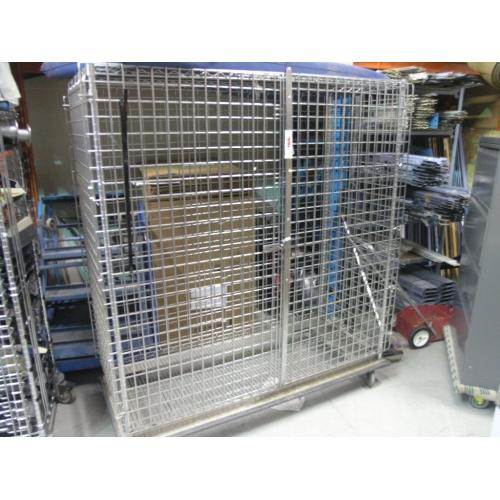 2 Door Metro Rolling Lock Up Cage 62 x 25 x 68  Allsold