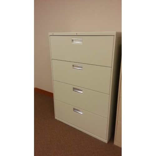 4Drawer Locking Lateral Beige Filing Cabinet  Allsoldca