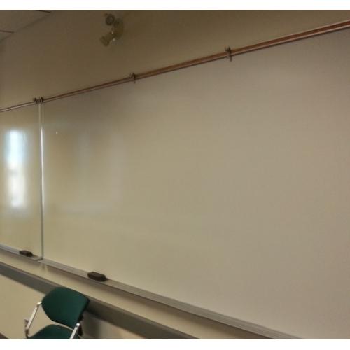 119 x 48 Magnetic Whiteboard w Chrome Border  Bottom
