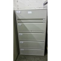 Haworth 5 drawer Lateral File Cabinet Beige - Allsold.ca ...