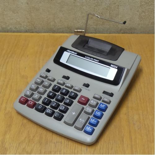 HighMark 98524 2 Colour Printing Calculator Adding Machine