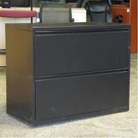 Meridian Black 2 Drawer Lateral File Cabinet, Locking ...