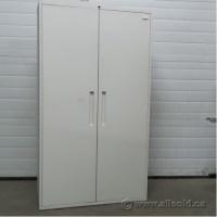 Teknion White Metal 2 Door Storage Cabinet, Adjustable ...