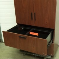 Mahogany 2 Drawer Lateral File Cabinet with Enclosed OH ...