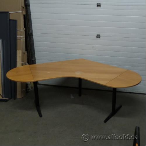 Maple V Shaped Corner Desk Workstation Table  Allsoldca
