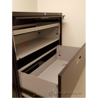 Staples Black 5 Drawer Lateral File Cabinet, Locking ...
