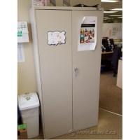 """Global Beige 72"""" 2 Door Metal Storage Cabinet, Locking ..."""