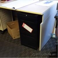 Black 2 Drawer Vertical Letter File Cabinet, Locking ...