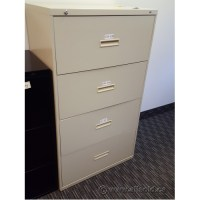 Hon Beige 4 Drawer Lateral File Cabinet, Locking - Allsold ...