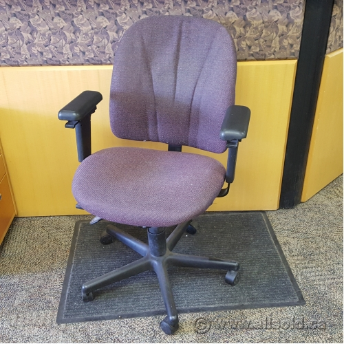 herman miller rolling office chair zero g recliner purple adjustable fabric - allsold.ca buy & sell used furniture calgary