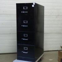 Black 4 Drawer Hon Vertical File Cabinet - Allsold.ca ...