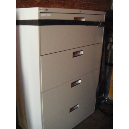 Hon 4 Drawer Lateral Locking Filing Cabinet  Allsoldca