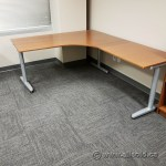 Maple Ikea Galant Modular Open Style L Suite Desk W Grey Legs Allsold Ca Buy Sell Used Office Furniture Calgary