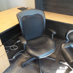Rolling Chair Parts Black Bungee Office Leather Mesh Back Task With Arms