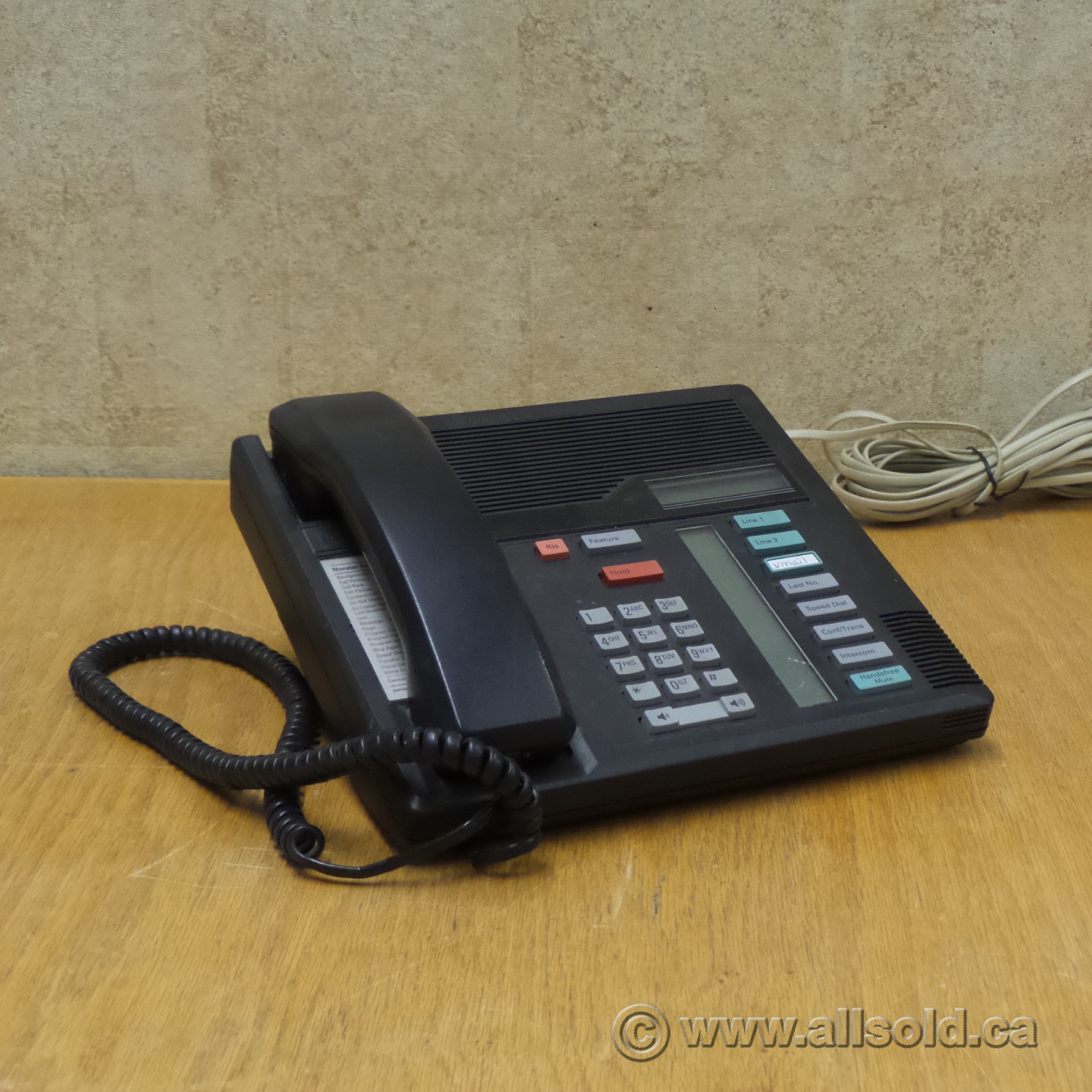 norstar office chair parts small wooden meredian m7280 black multi line business phone