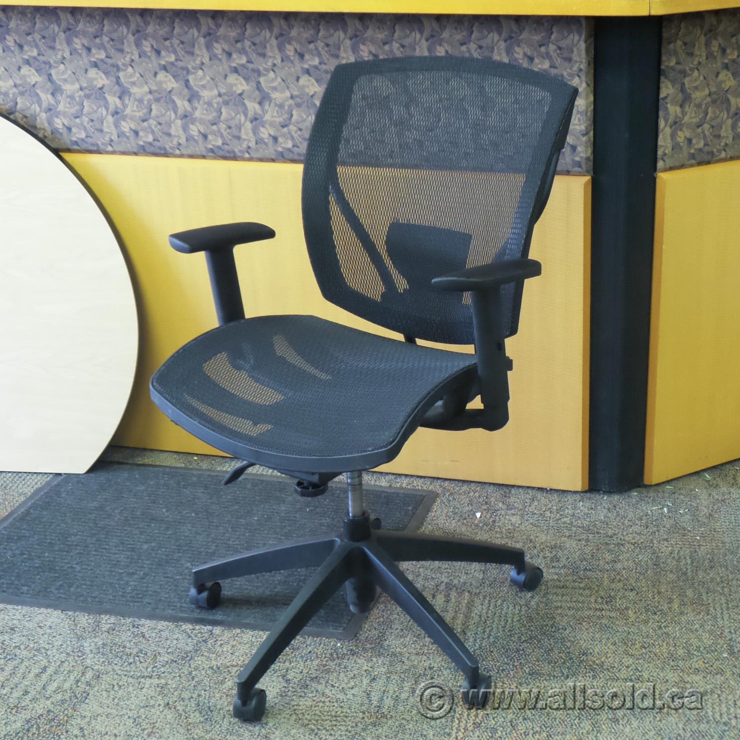 OTG Ibex Black All Mesh Ergonomic Adjustable Office Task