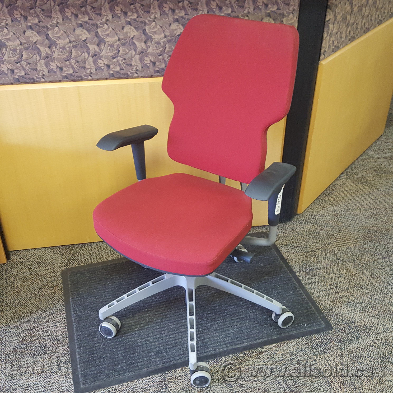 red desk chair ikea dark grey dining chairs and klappe swivel office allsold ca