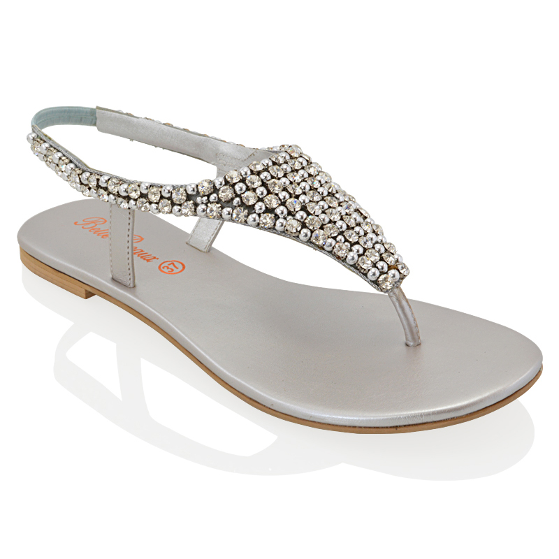 Silver Sandals Beach Wedding