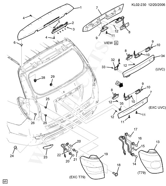 Каталог запчастей Chevrolet CAPTIVA (C100) : 2008