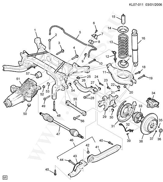 Каталог запчастей Chevrolet CAPTIVA (C100) : 2008 : FRAMES