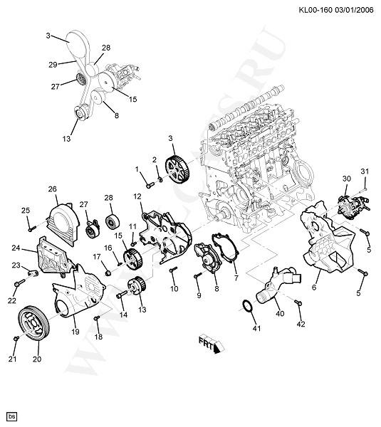 Каталог запчастей Chevrolet CAPTIVA (C100) : 2008 : ENGINE