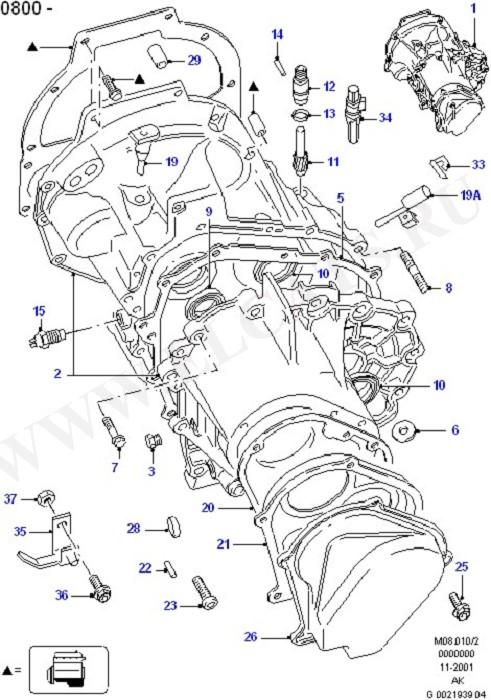Каталог запчастей Ford Escort 1995-2001 (FA
