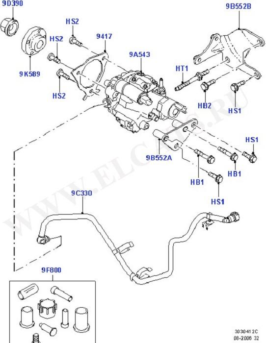 Каталог запчастей Ford Mondeo 2007- (CA2) : Lynx 1.8