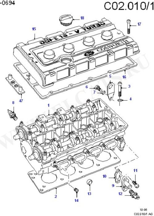 Каталог запчастей Ford Escort/Orion 1990-1995 (EA) : OHC
