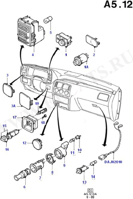 Каталог запчастей Ford Escort/Orion 1986-1990 (DA) : Кузов