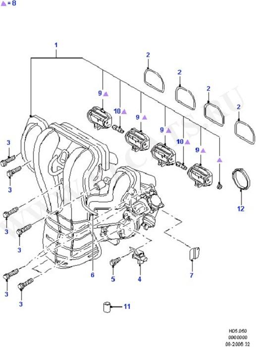 Каталог запчастей Ford Mondeo 2000- (GE) : OHV/HCS/CVH/CHT