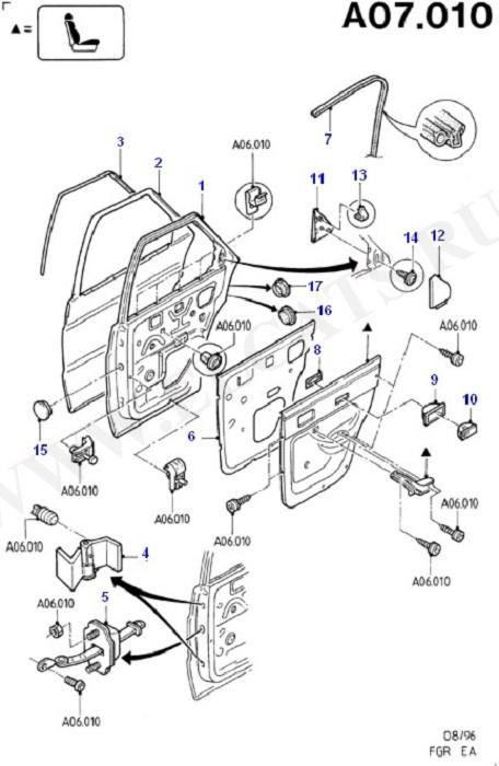 Каталог запчастей Ford Escort/Orion 1990-1995 (EA) : Кузов