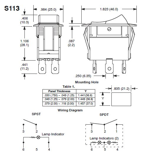 switch-diagram-S113 Illuminated Rocker Switch Wiring Diagram on