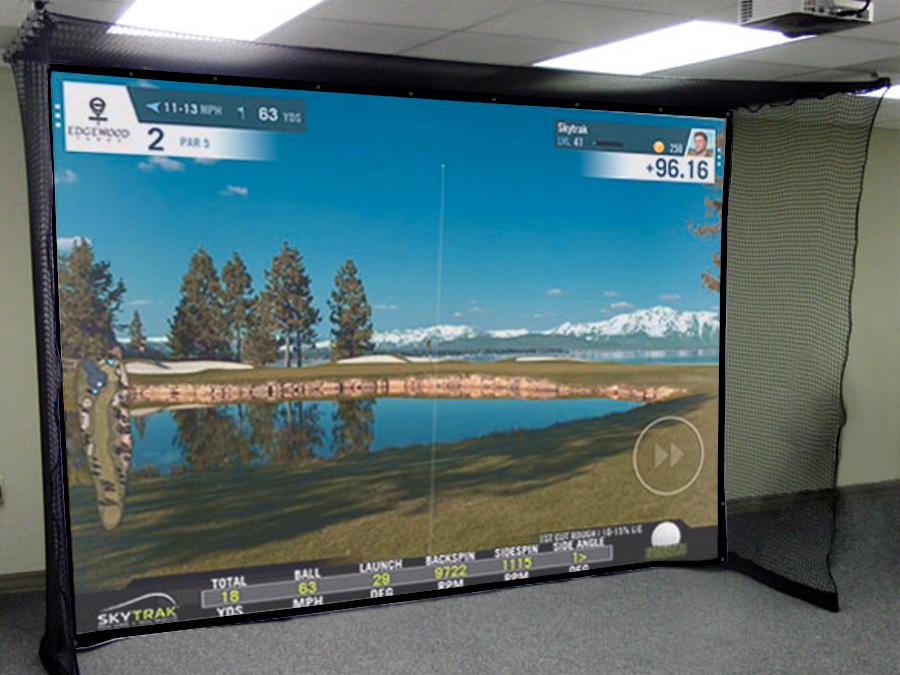 Skybay Hanging Indoor Home Golf Simulator Enclosure