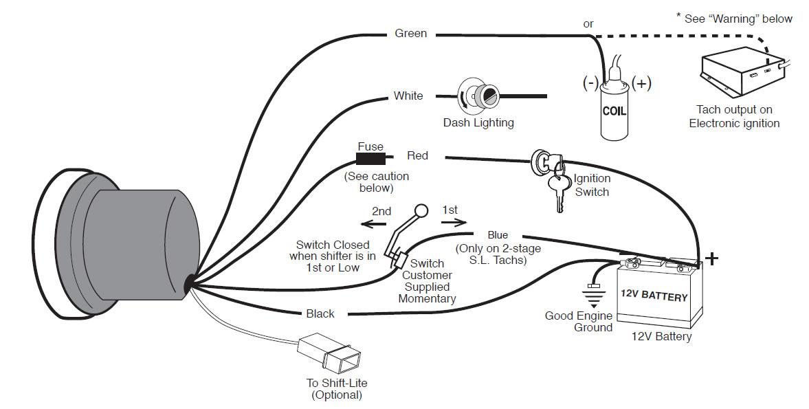 שעון טכומטר C2 מקצועי לרכב 10000RPM