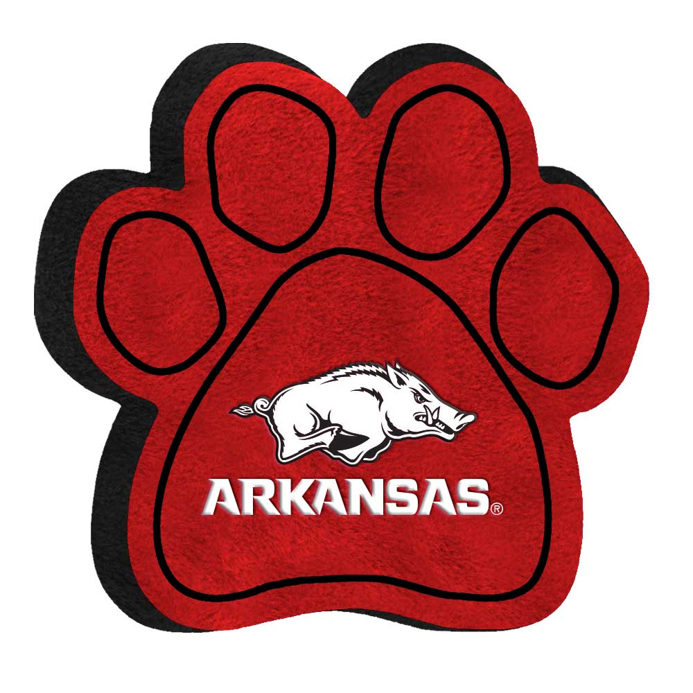 medium resolution of university of arkansas razorbacks paw shaped squeak toy