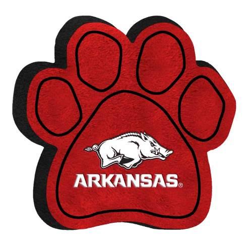 small resolution of university of arkansas razorbacks paw shaped squeak toy
