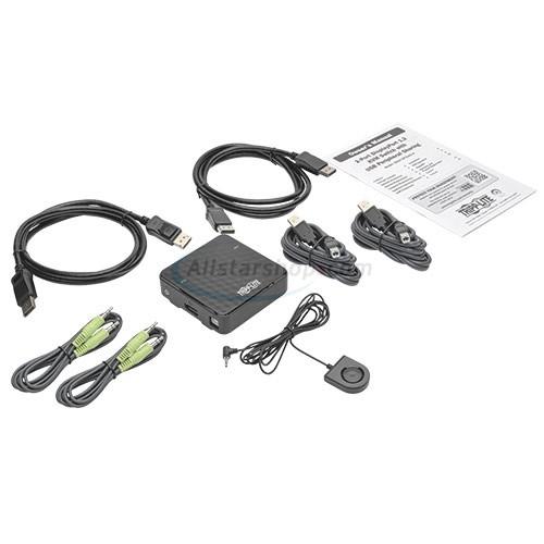 Tripp Lite B004-DP2UA2-K 2-Port DisplayPort 1.2 KVM w/ Audio