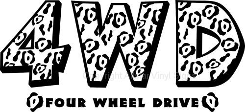 Nissan 4 wheel drive windshield decals