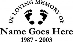 """New """"In Loving Memory of"""" car window decals"""