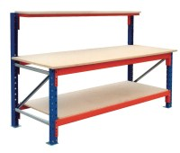 Ultimate Heavy Duty Workbench with High Back | All Storage ...