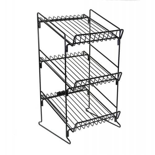 3 shelf wire counter display rack metal counter display