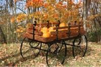 Hay Wagon Display | Wooden Wholesale Cart | Produce Wagons