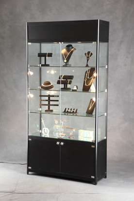 Lighted Tower Display Case Glass Display Lighted Display