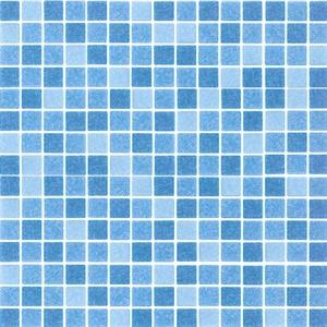 lugano blue elettrico mosaic swimming pool tiles