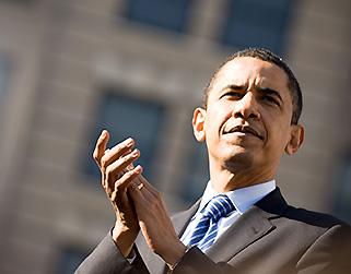 Barack Obama schräg