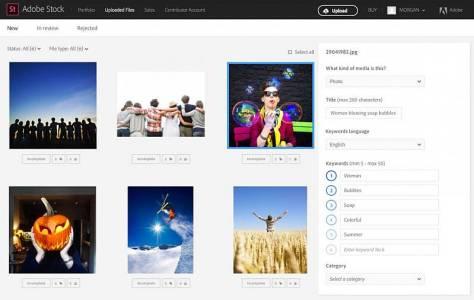 Upload-Ansicht im neuen Adobe Stock Contributor Portal
