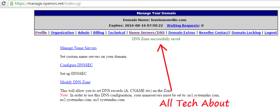 How To Attach Opensrs Domain with Blogger.com