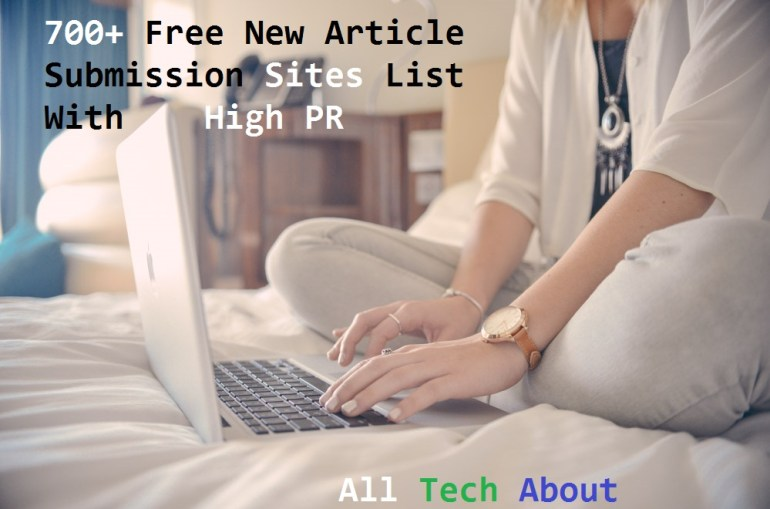 Free New Article Submission Sites List With High Page Rank